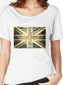 Grunge United Kingdom Flag 4 Women's Relaxed Fit T-Shirt