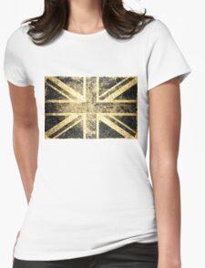 Grunge United Kingdom Flag 4 Womens Fitted T-Shirt