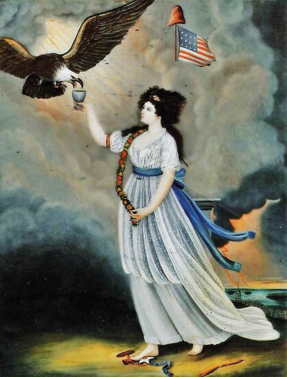 Abijah Canfield Liberty in the Form of the Goddess of Youth Giving Support to the Bald Eagle, 1800 now at the Henry Ford Museum and Greenfield Village by Adam Asar