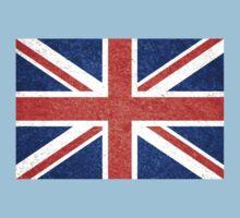 Grunge United Kingdom Flag 5 Kids Tee