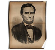 Abraham Lincoln. The martyr President, Assassinated April 14, 1865, Currier & Ives portrait Poster