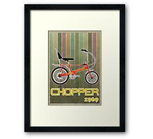 Chopper Bicycle Framed Print