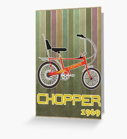 Chopper Bicycle Greeting Card