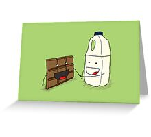 Chocolate Milkshake Greeting Card