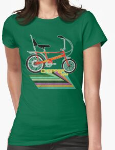 Chopper Bicycle Womens Fitted T-Shirt