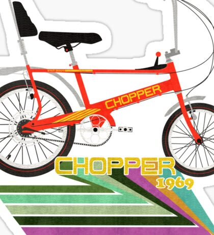 Chopper Bicycle Sticker