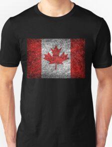 Grunge Canada Flag Unisex T-Shirt