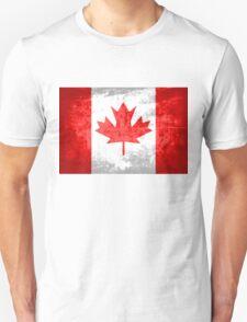 Grunge Canada Flag 2 T-Shirt