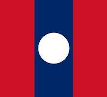 Laos Flag by pjwuebker
