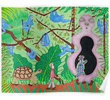 Alien Sloth Junglescape  Poster