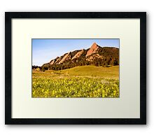 February Snow Showers - Bring May Flowers Framed Print