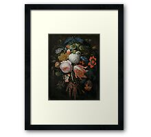 Abraham Mignon A Hanging Bouquet of Flowers probably 1665 Framed Print