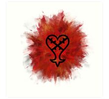 Heartless symbol Art Print