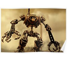 Steampunk Mechanoid Poster