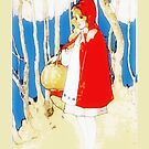 Vintage Little Red Riding Hood iPhone iPod Case by wlartdesigns