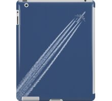 ipad cover. Airplane in a blue, blue sky. iPad Case/Skin