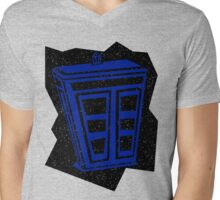 Minimalist TARDIS Mens V-Neck T-Shirt