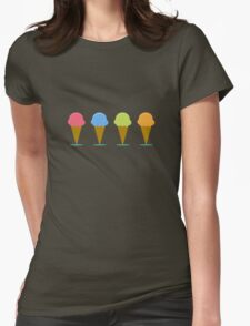 Ice creams Womens Fitted T-Shirt