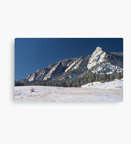 Snow Dusted Flatirons Boulder Colorado Panorama Canvas Print