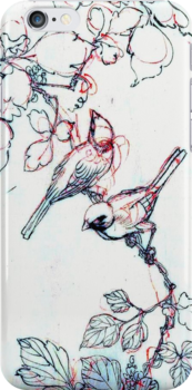 Asian Ink Birds iPhone Ipod iPhone Case by wlartdesigns