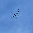 helicopter in blue sky by mrivserg