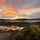 Menai Strait at Dawn by ajwimages