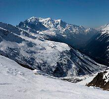 Chamonix Valley Panorama by John Gaffen