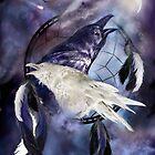 Dream Catcher - Legend Of The White Raven by Carol  Cavalaris