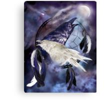 Dream Catcher - Legend Of The White Raven Canvas Print