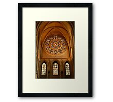 Truro cathedral rose window Framed Print
