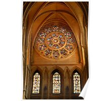 Truro cathedral rose window Poster