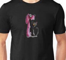 Stressie Cat & the Pink Dog Unisex T-Shirt