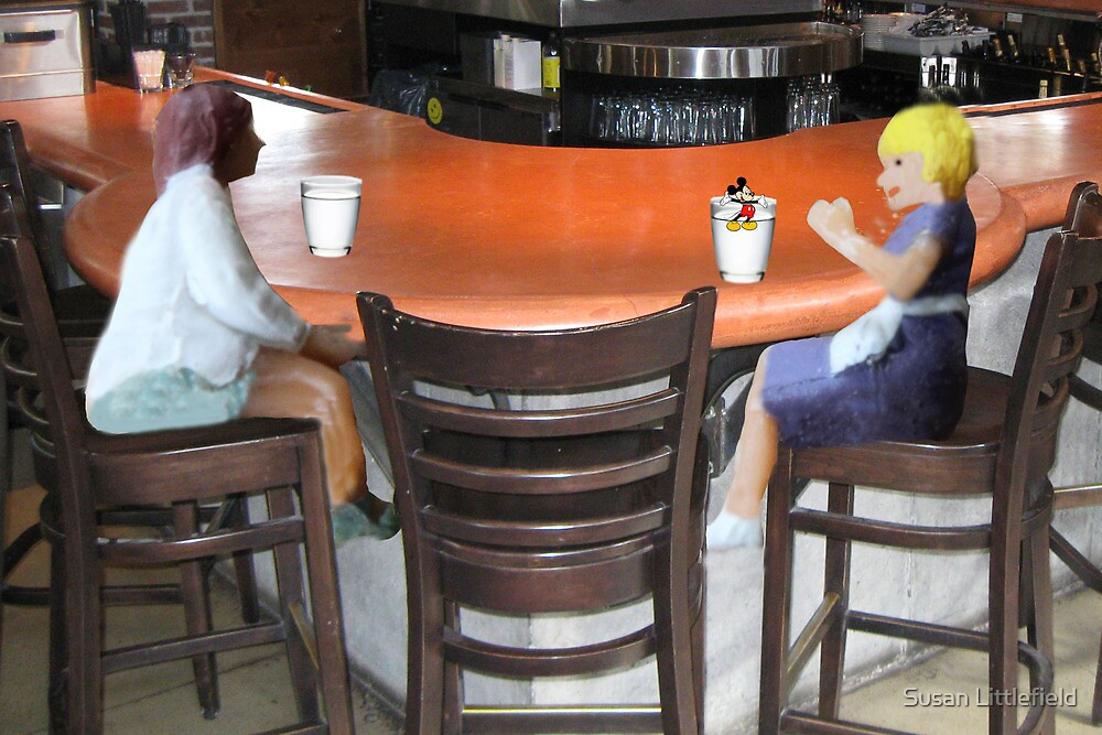 Wait, Roxanne…..don't drink that!!!!  I think someone's trying to slip you a mickey!! by Susan Littlefield