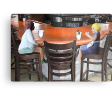 Wait, Roxanne…..don't drink that!!!!  I think someone's trying to slip you a mickey!! Metal Print