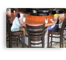 Wait, Roxanne…..don't drink that!!!!  I think someone's trying to slip you a mickey!! Canvas Print
