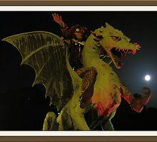 Riding a Dragon by jollykangaroo