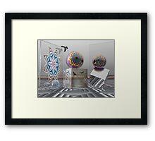 Wonder World, 3-d Surrealistic work Framed Print