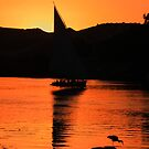 Felucca in an egyptian sunset by gruntpig