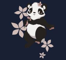 Girl panda with flowers One Piece - Long Sleeve
