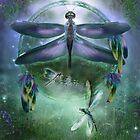 Dream Catcher - Wind Dancer by Carol  Cavalaris