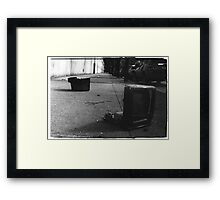 Trash TV Framed Print