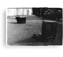 Trash TV Canvas Print