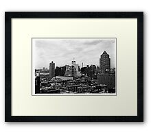 Manhattan Skyline, New York Framed Print