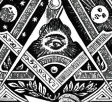 """Since Time Immemorial"" Masonic shirt Sticker"