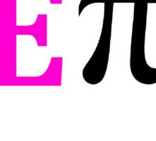 Pink E Pi Sticker