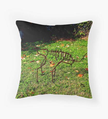 Skeleton Sculpture Throw Pillow