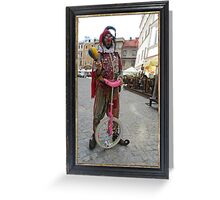 Jester & Pink Unicycle Greeting Card