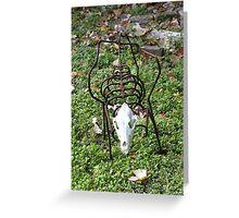 Skeleton Sculpture Greeting Card
