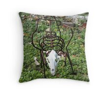 Skeleton Sculpture Throw Pillow