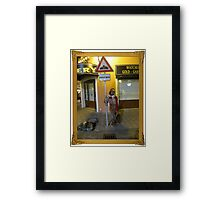 Fool at Work Framed Print